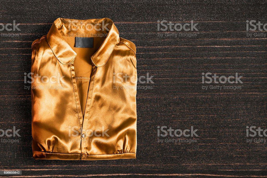 Blouse on wooden background - foto de acervo