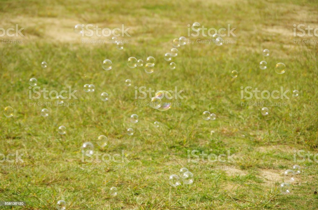 Blow (soap) bubbles stock photo