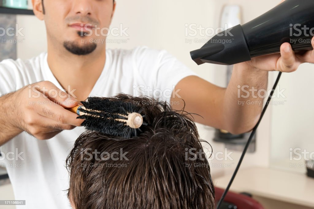 Blow dry royalty-free stock photo