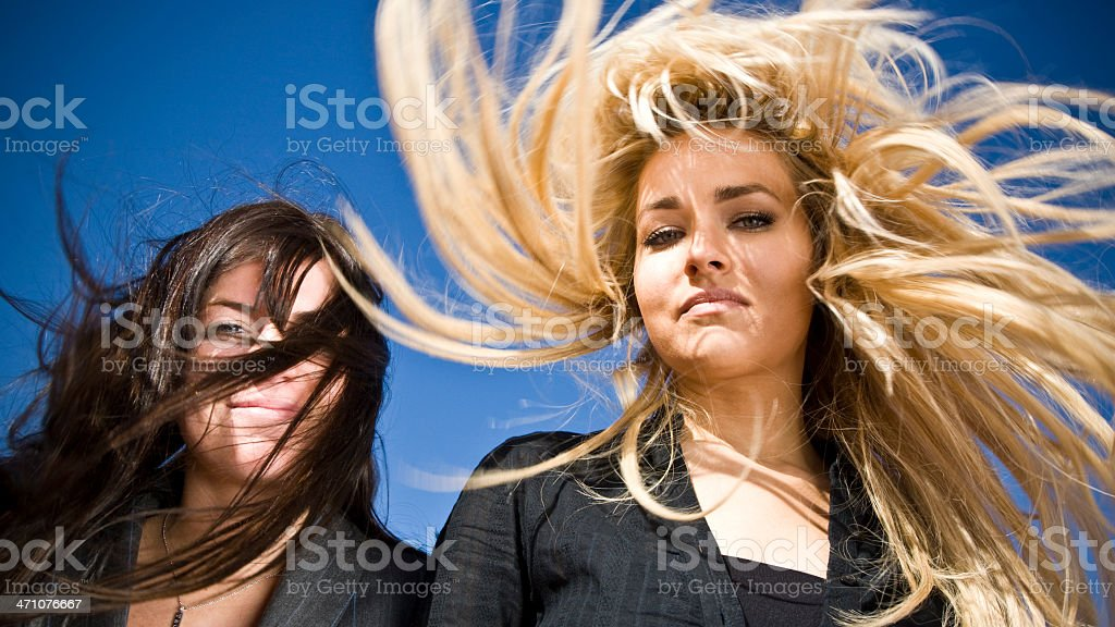 blow dry women portrait royalty-free stock photo