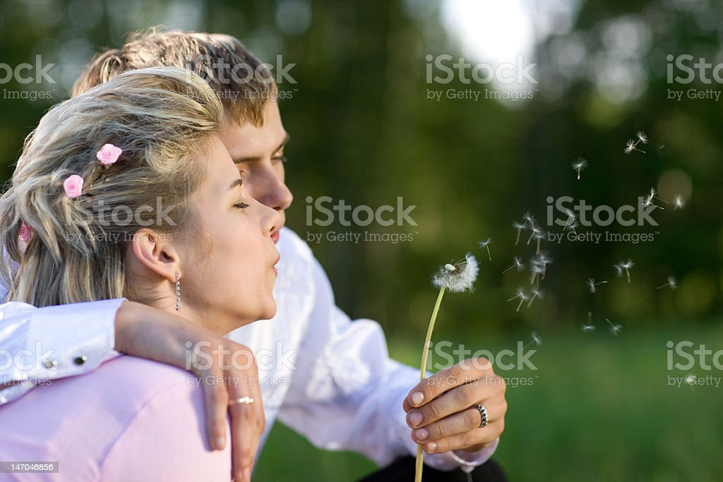 Blow for luck stock photo