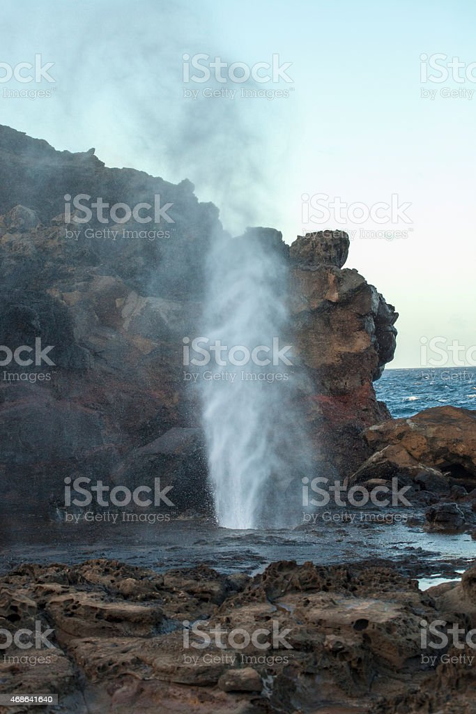 Blow hole stock photo