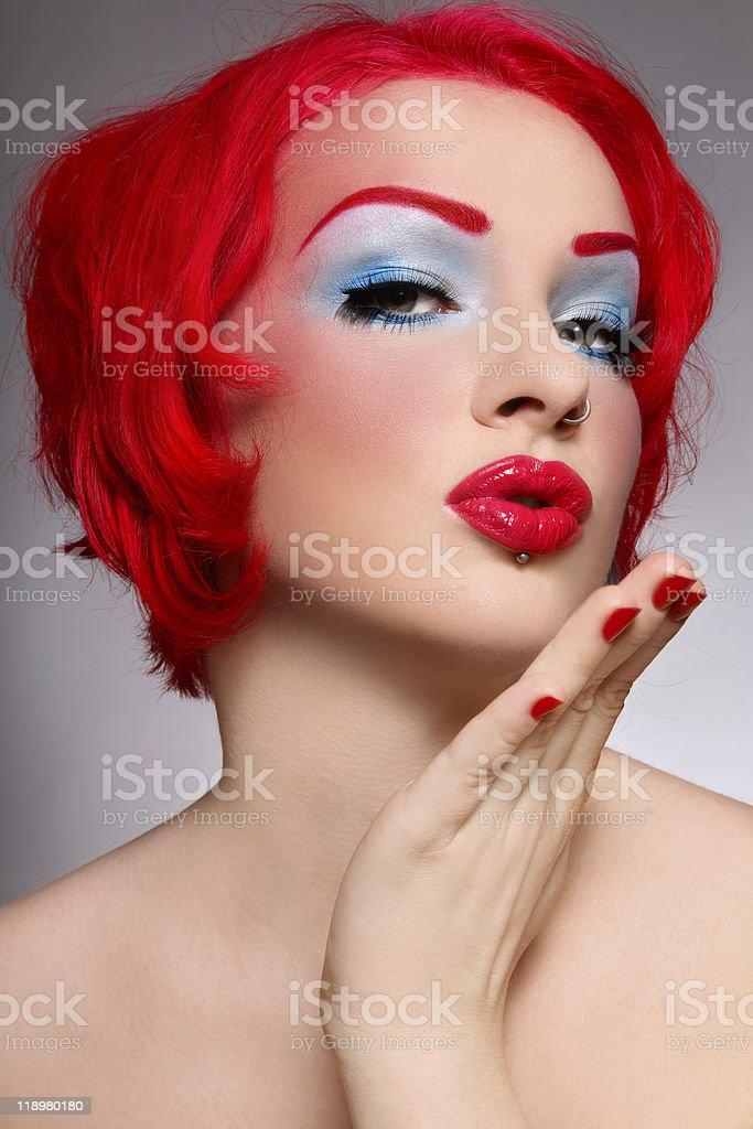 Blow kiss royalty-free stock photo
