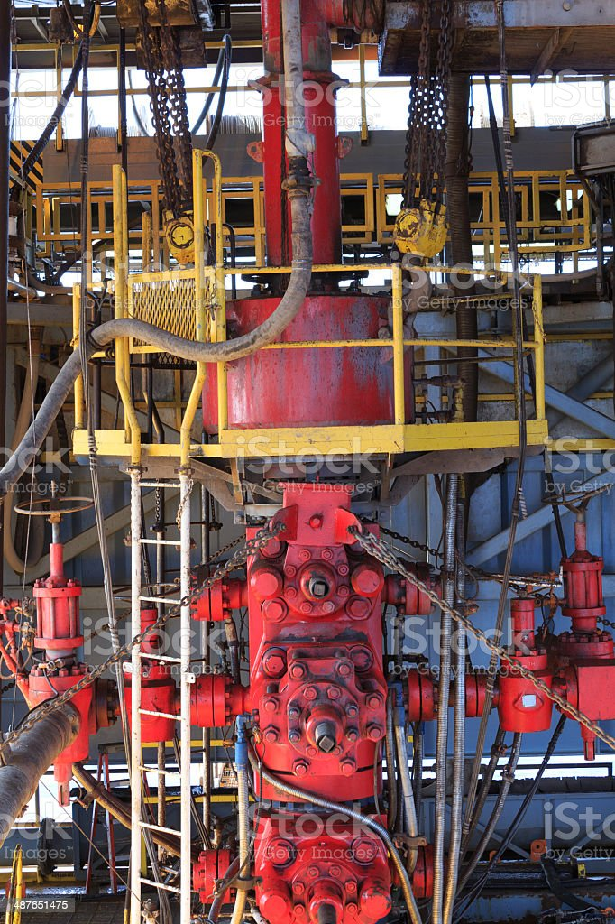 Blow Out Preventer (BOP) for Drilling Oil Rig stock photo