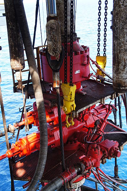 Blow Out Preventer for Offshore Drilling Rig stock photo