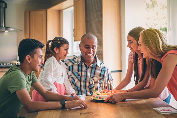 blow out the candles! - kinderzimmer tischleuchten stock-fotos und bilder