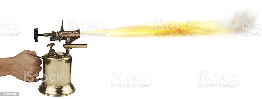 blow torch stock photo