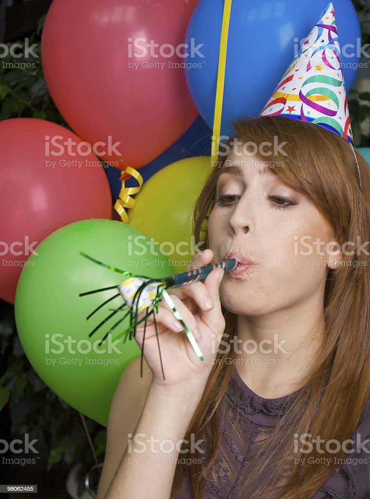 Blow Your Own Horn royalty-free stock photo