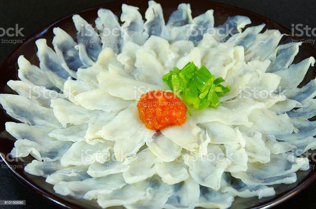 Blowfish sashimi ストックフォト