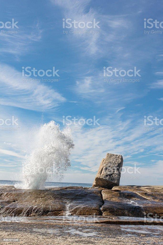 Blowhole near Bicheno, Tasmania. royalty-free stock photo