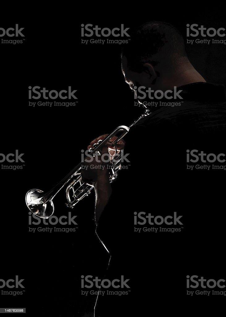 Blowin some Jazz stock photo