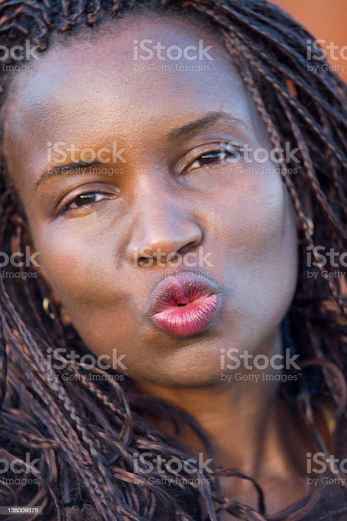 Blowing A Kiss royalty-free stock photo