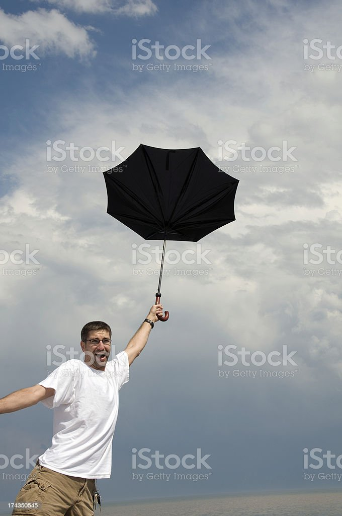 Blowing Away! royalty-free stock photo
