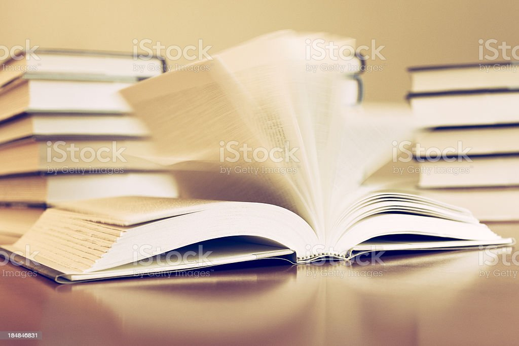 Blowing Book Pages royalty-free stock photo