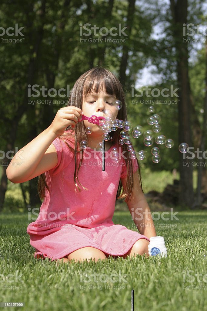 Blowing Bubbles Series royalty-free stock photo