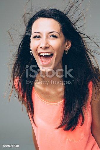 istock Blowing Hair 488521848