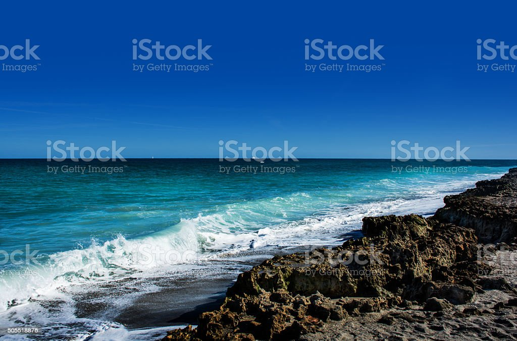 Blowing Rocks Preserve stock photo