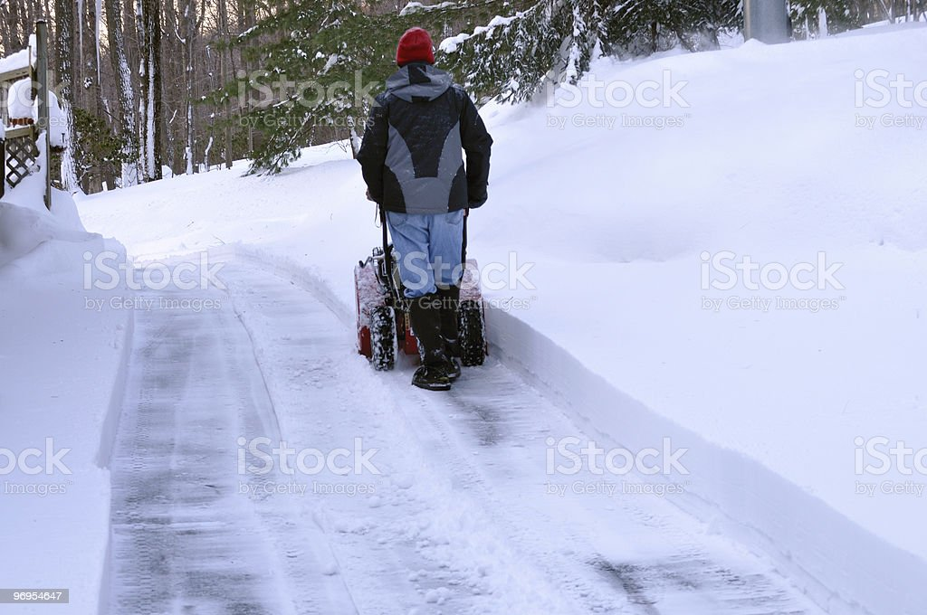 Blowing Snow Down Hill royalty-free stock photo