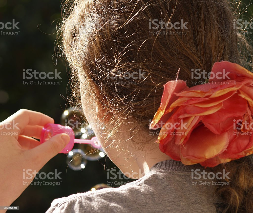 Blowing soap-bubbles royalty-free stock photo