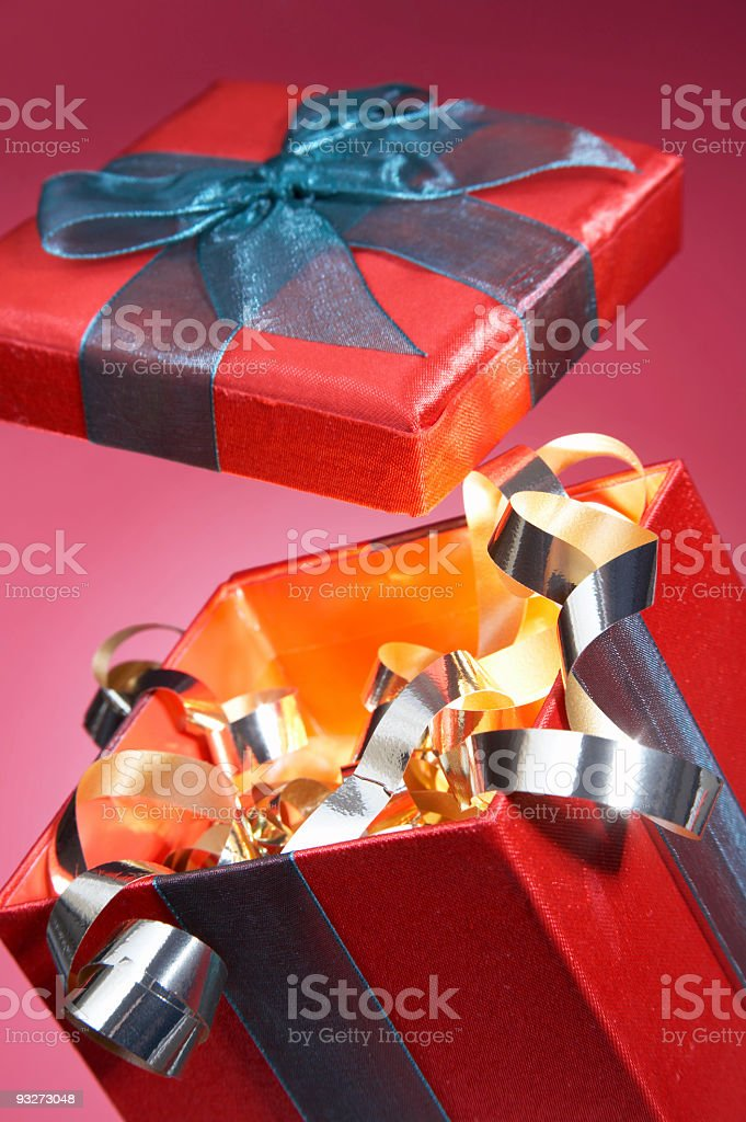 Blowing the Lid Off Christmas royalty-free stock photo