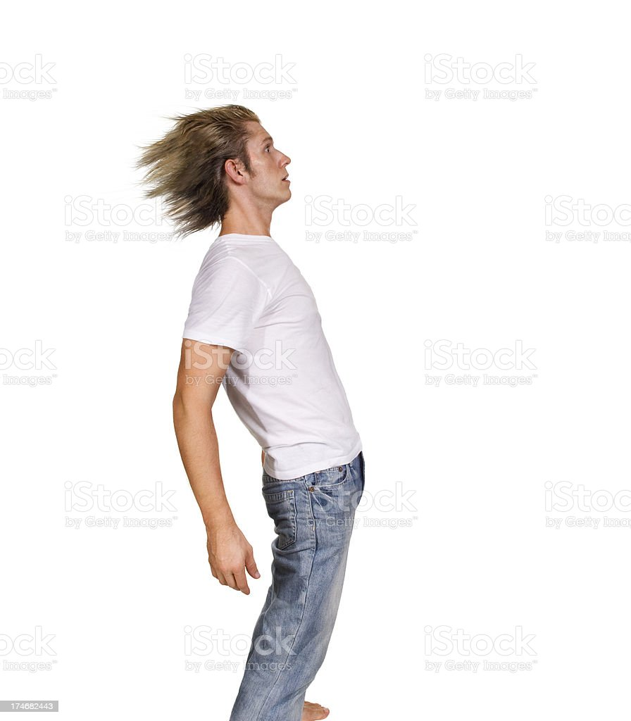 blown away stock photo