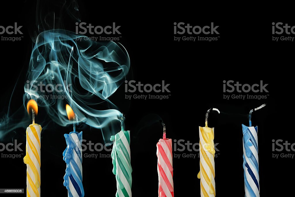 blown out candles stock photo