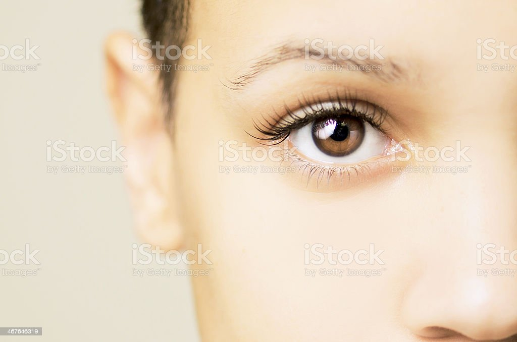 Blown Out Eye stock photo