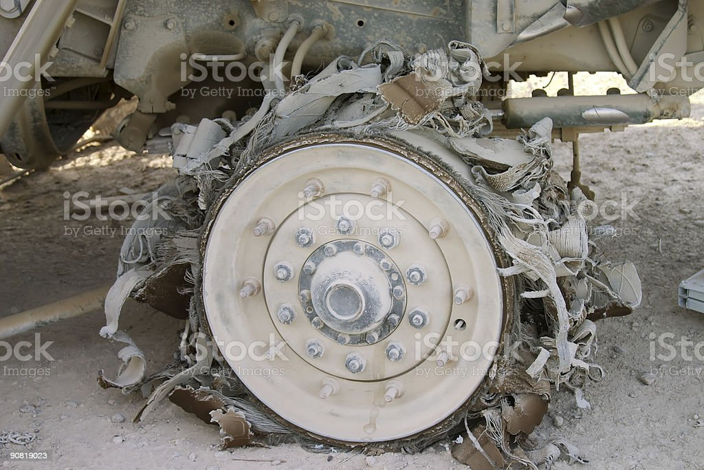 Blown Tire stock photo
