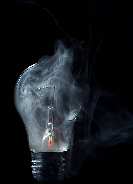 blown-out bulb stock photo