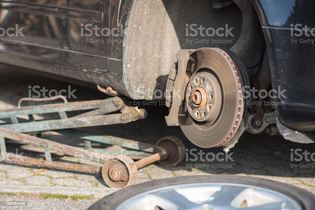 blowout tire stock photo