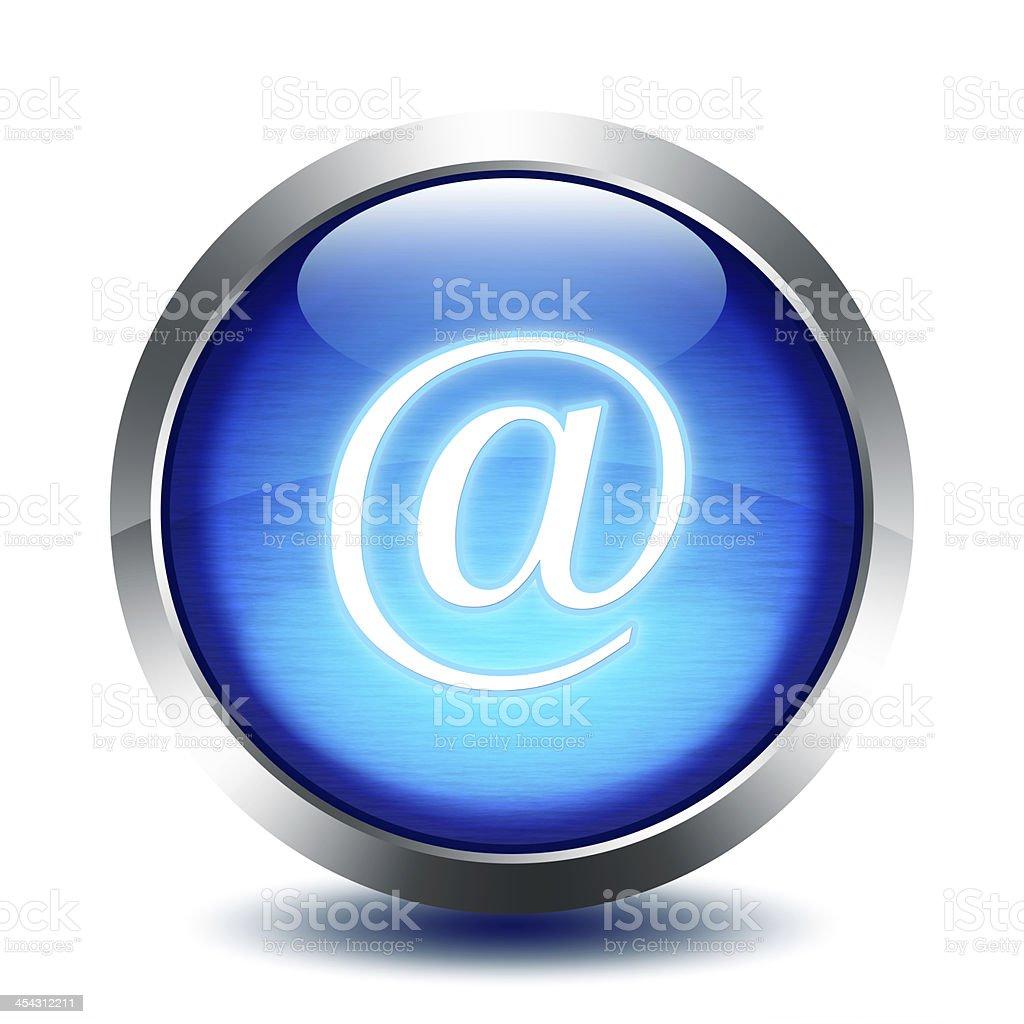 blu glass button - e-mail royalty-free stock photo