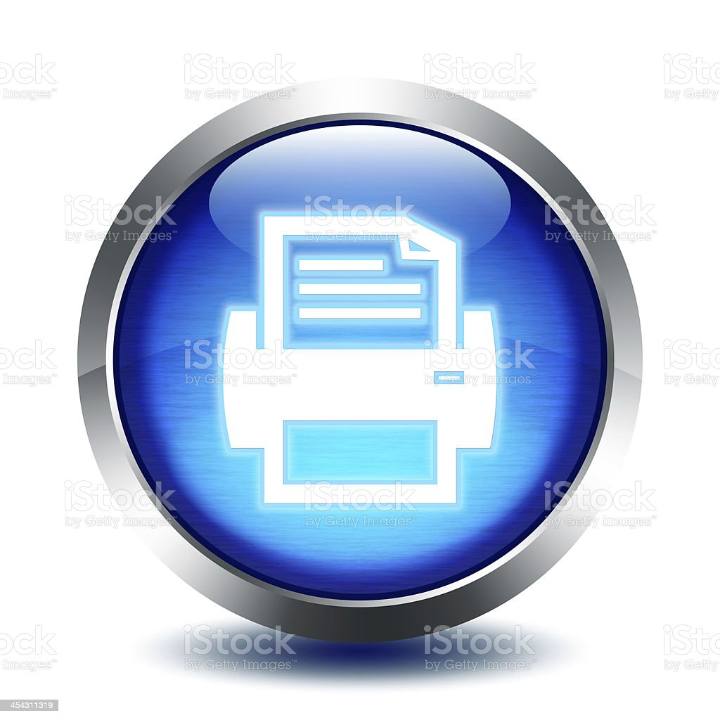 blu glass button - print stock photo