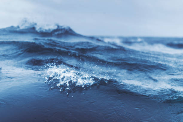 blu rough sea - atlantic ocean stock pictures, royalty-free photos & images