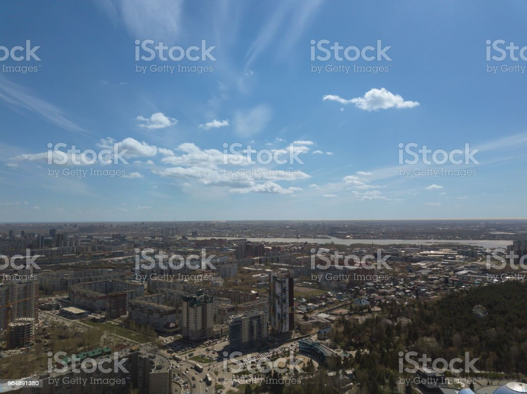 Blu sky in the city royalty-free stock photo