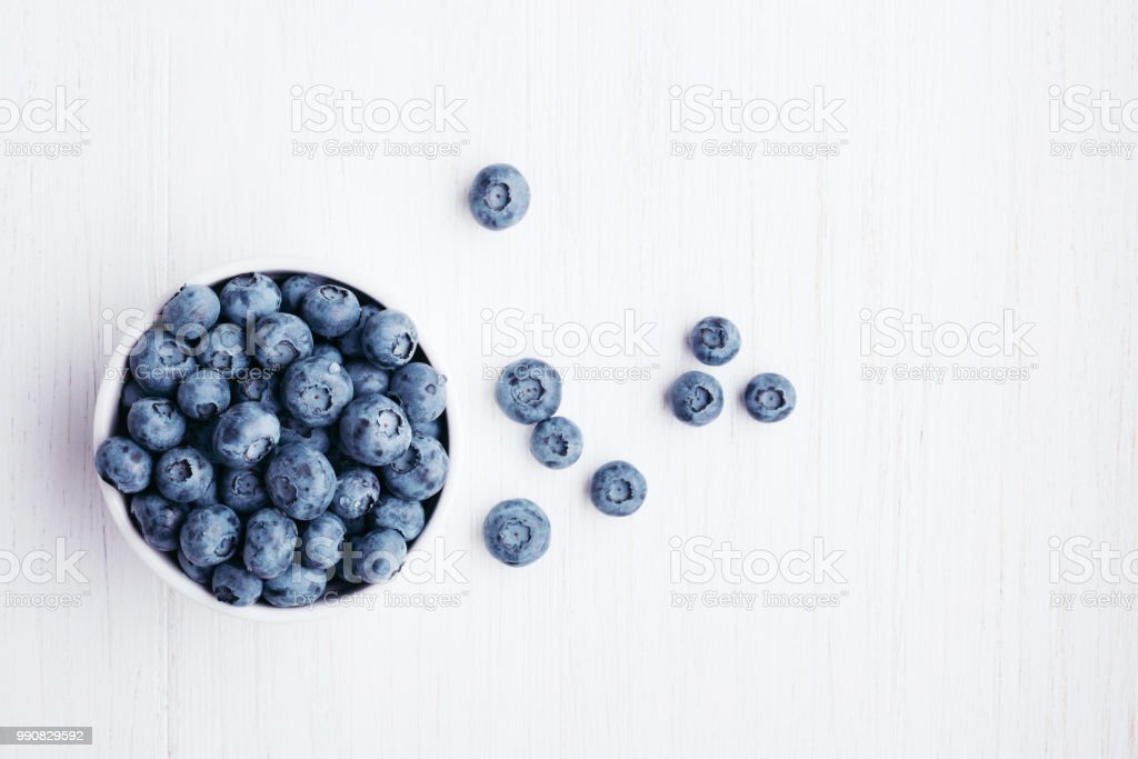 Bluberries in bowl. stock photo