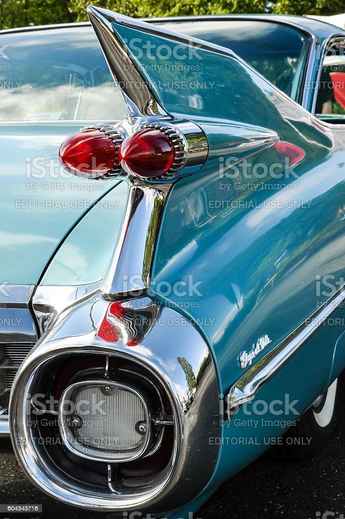 Blue 1959 Cadillac stock photo