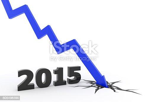 istock 2015 blue 3D arrow crash 505498390