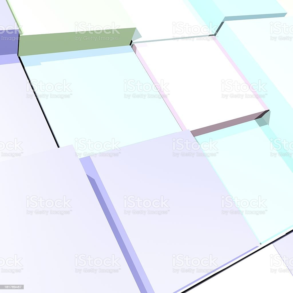 blue 3D model cube background royalty-free stock photo