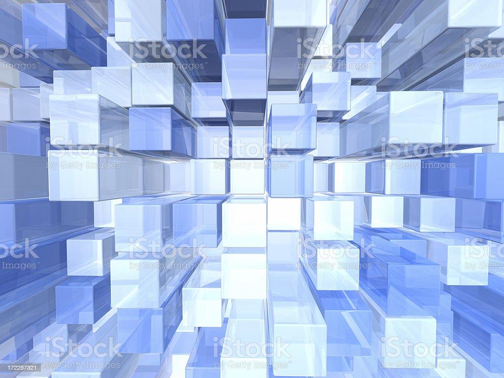 Blue 3d Pattern royalty-free stock photo