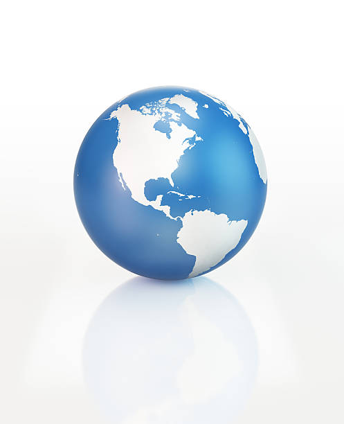 Royalty free north america icon pictures images and stock photos blue 3d world object with world map on white surface stock photo gumiabroncs Choice Image