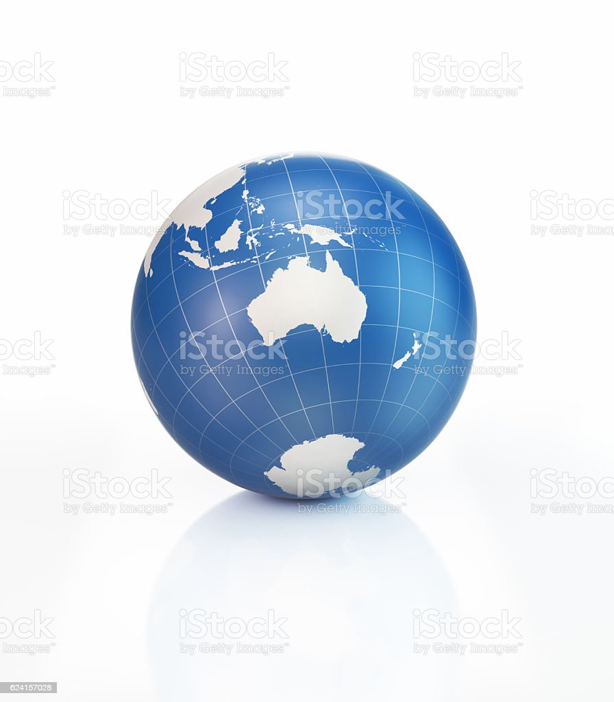 Blue 3d world object with world map on white surface stock photo blue 3d world object with world map on white surface royalty free stock photo gumiabroncs Gallery