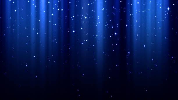 blå abstrakt bakgrund med strålar av ljus, gnistrar, norrsken, stjärnklara natthimlen - northern lights bildbanksfoton och bilder