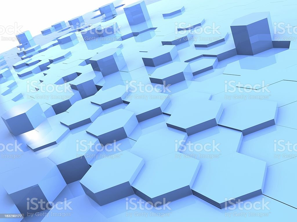 Blue Abstract Cells royalty-free stock photo