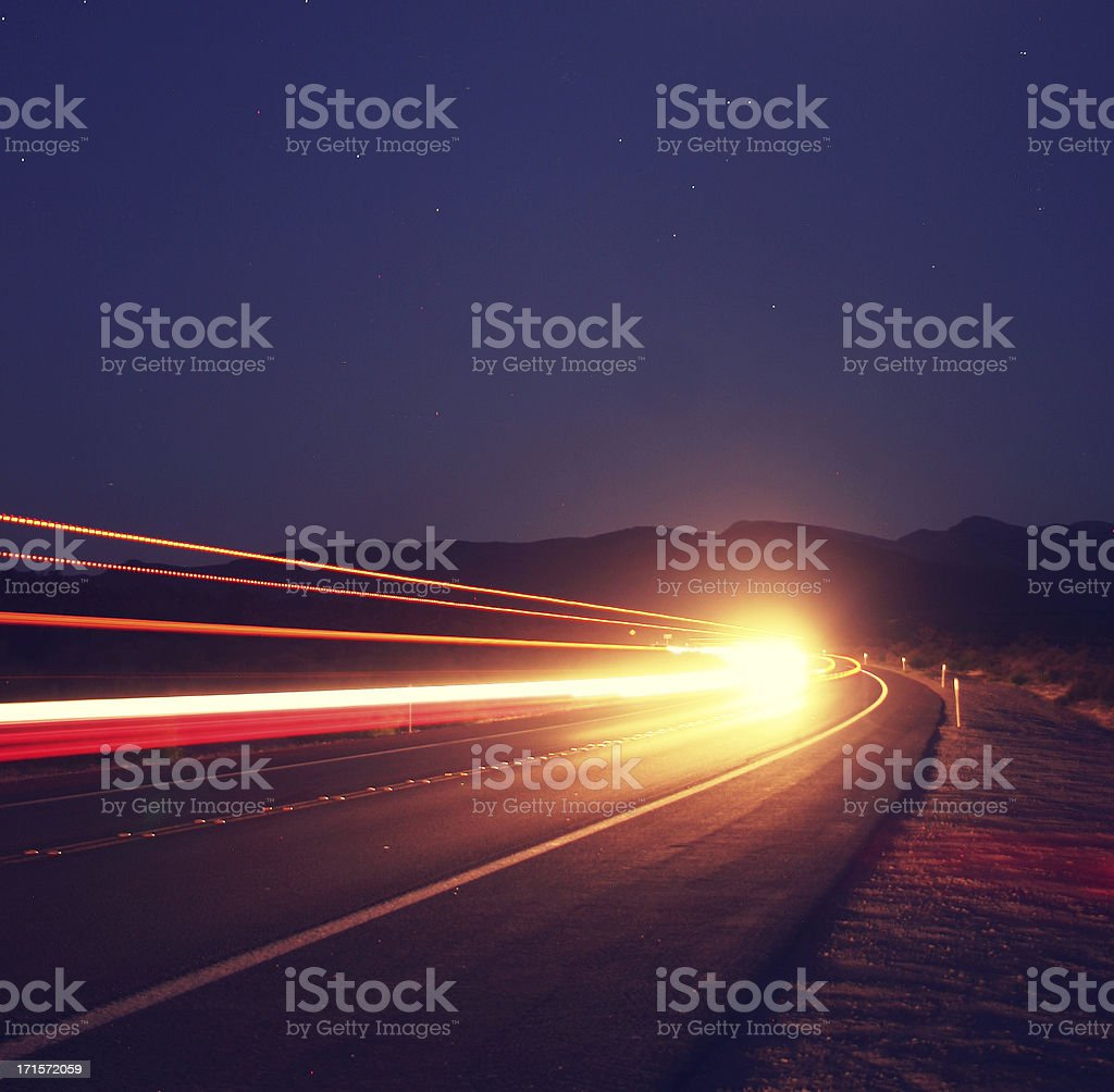 Blue Abstract - Communication and Speed Concept stock photo