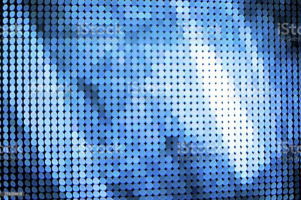 Blue abstract LED lights. royalty-free stock photo