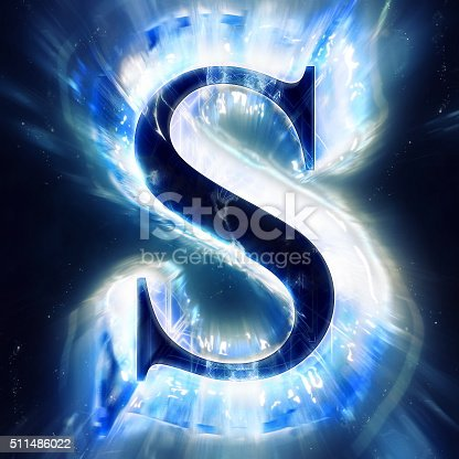 istock Blue Abstract Letter S 511486022