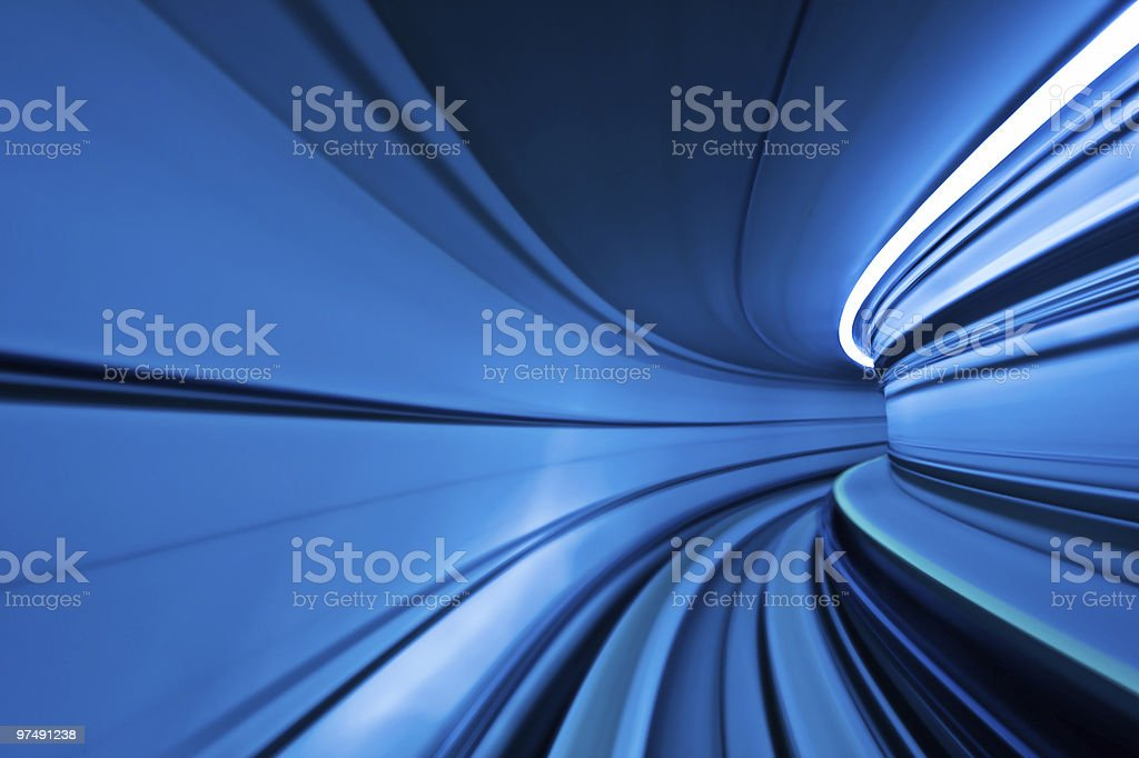 Blue Abstract Motion Curve royalty-free stock photo