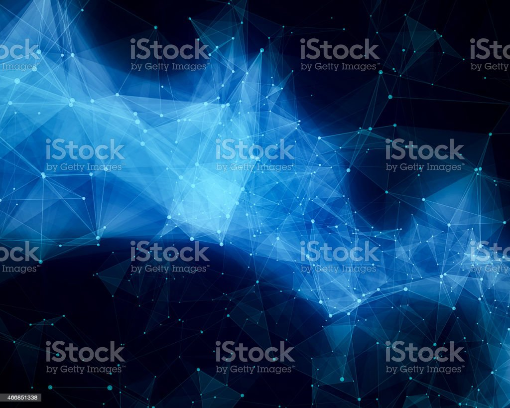 Blue abstract nebula stock photo
