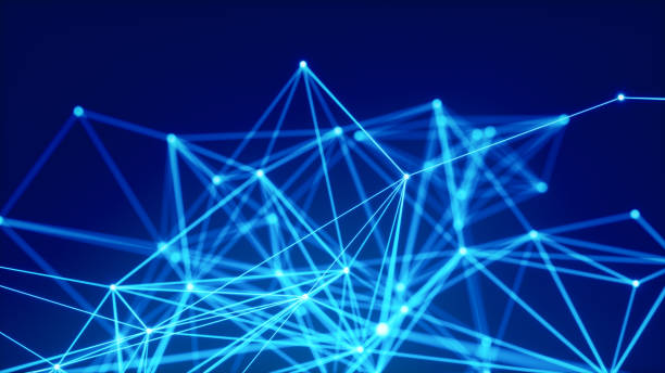 blue abstract network background - connect the dots stock photos and pictures