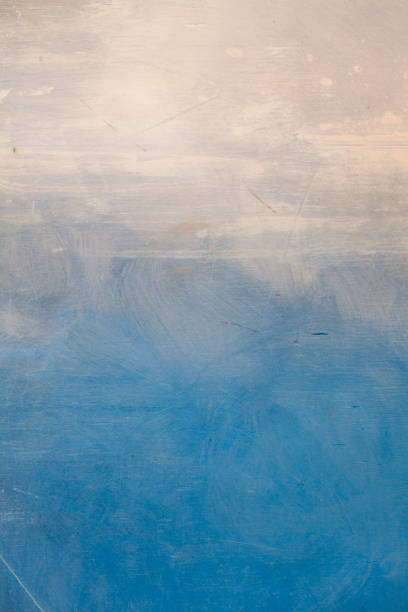 blauen ozean abstrakte kunst malerei hintergrund - himmel bilder stock-fotos und bilder